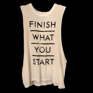 Finish what you start graphic tank top